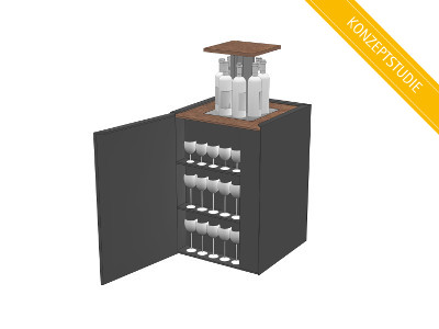 Retractable bar cube