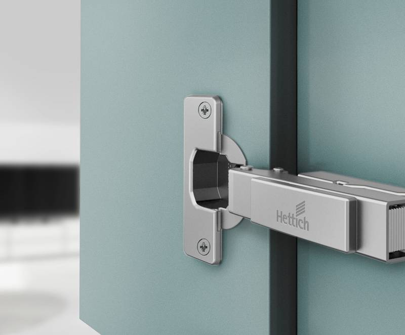 Tried and proven fast assembly hinge: Intermat scores with tested durability, high quality and its great value for money. Photo: Hettich