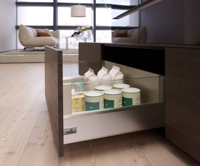 ArciTech from Hettich is the drawer system for high quality kitchens. Photo: Hettich