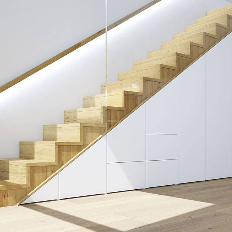 Staircase as storage space miracle