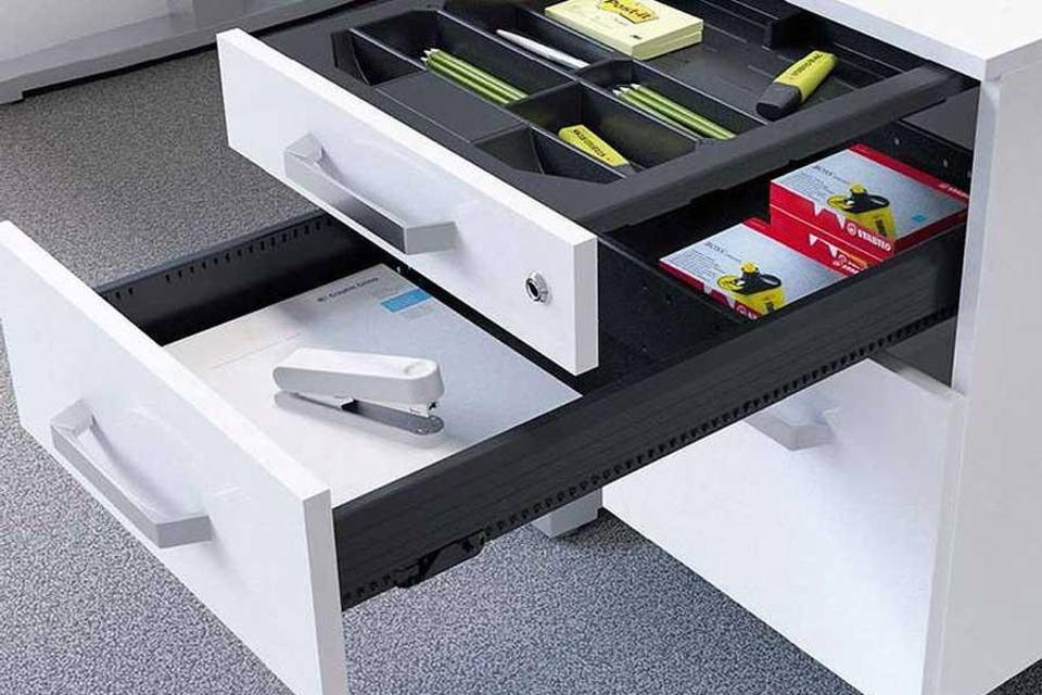 Systems for office furniture from Hettich