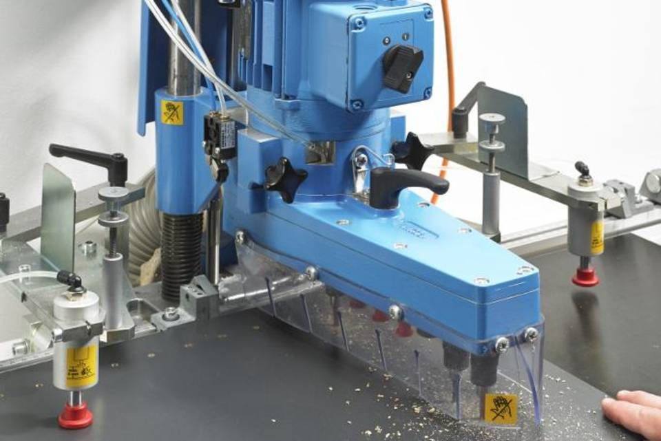 Automatic drilling and insertion machines