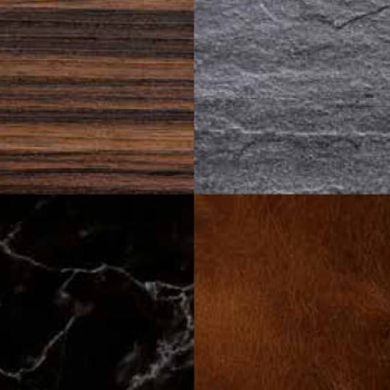 Pure elegance and harmony on dark surfaces.