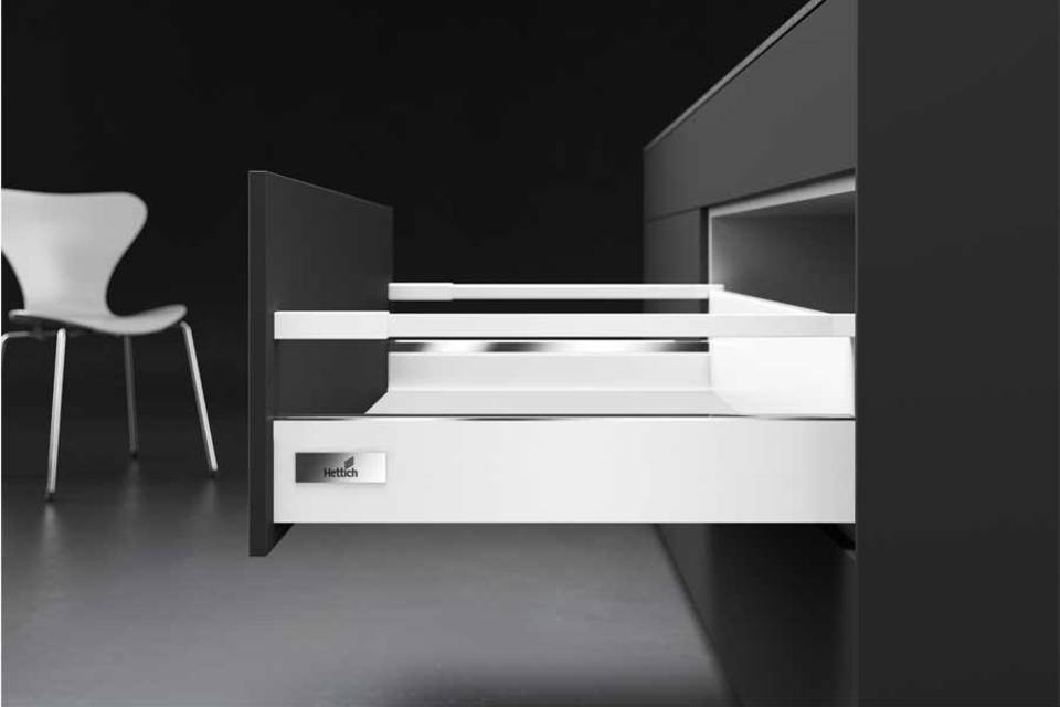 InnoTech Atira double-walled drawer system from Hettich