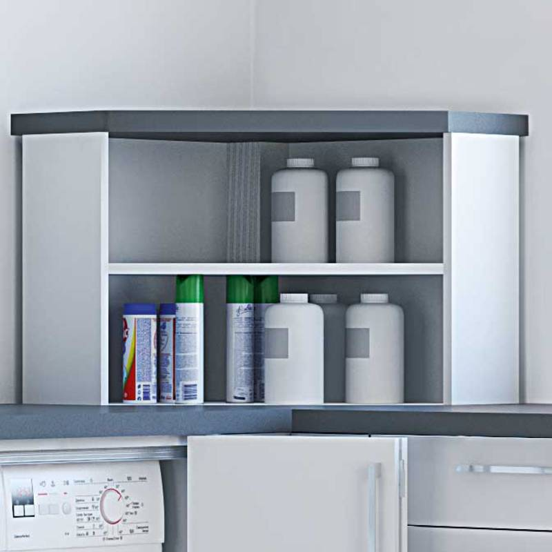 LegaDrive power assisted height adjustment: fold-up corner for clever storage options makes it possible to use storage space otherwise difficult to access.