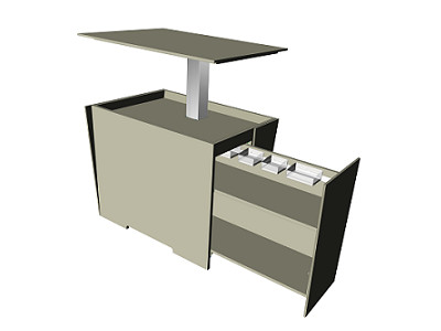Multifunctional pedestal with LegaDrive
